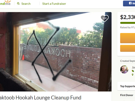 Vandalism at Flagstaff hookah lounge