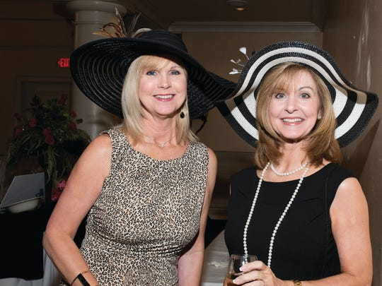 Peggy Marshall and Robin Lewis at the Derby Party for Hospice of Montgomery (Courtesy of Patricia White Photography)