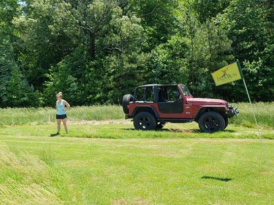 The Deer Run Jeep Golf course replaces golf carts with