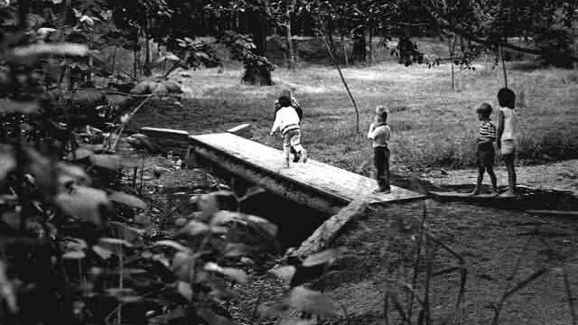 This photo taken on June 6, 1969 is of the Pringle Creek footbridge in Bush's Pasture Park. The first 57 acres of the park were donated in 1917. Statesman Journal file
