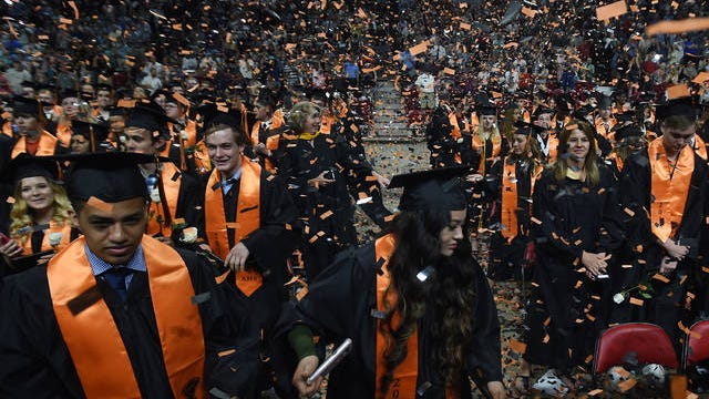 Commencement for Ames High seniors will be again be housed at the Hilton Coliseum this year, Superintendent Jenny Risner confirmed during Monday's virtual board meeting. File Photo.