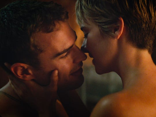 "Shailene Woodley and Theo James star in ""The Divergent Series: Insurgent."""