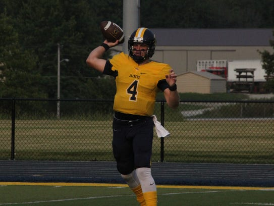 Graceland junior quarterback Preston Compton ranks