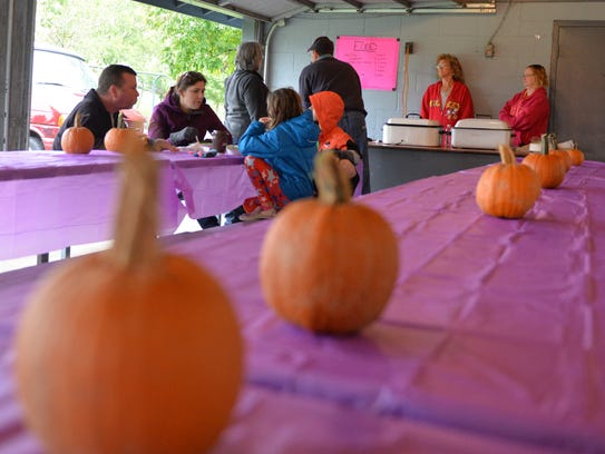 Games, food and pumpkin painting were among the things