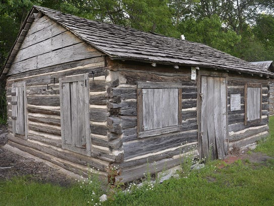 The Pioneer's Cabin at the Stearns History Museum was