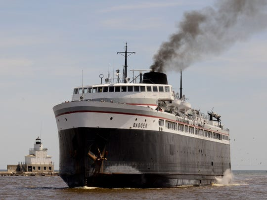 The S.S. Badger car ferry makes its 60-mile crossing