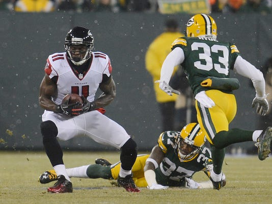 Micah Hyde, Sam Shields, Julio Jones