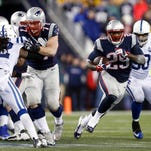 New England Patriots running back LeGarrette Blount (29) has been a huge force for the New England Patriots, who have rushed for 644 yards in their past three games.