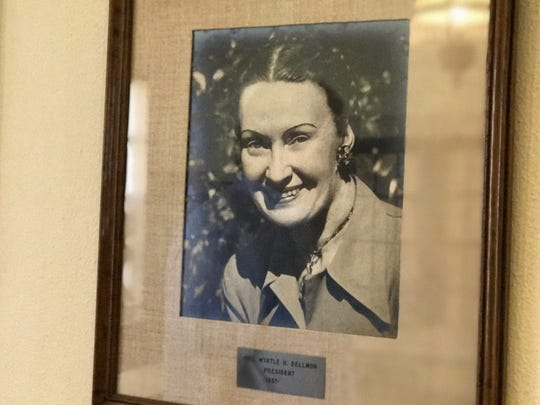 Myrtle Groves Huie Dellmon was the daughter of Town Talk founder Henarie Huie. She served as president of the paper's publisher McCormick & Co. Inc. from 1937-1966.