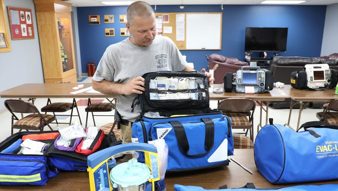 South Zanesville Fire Department Chief Russell Taylor talks about the equipment purchased to equip the department's new ambulance.