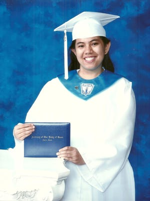 Janna Malig-on, co-editor for VIBE, graduated as the valedictorian of Academy of Our Lady of Guam's Class of 2015.