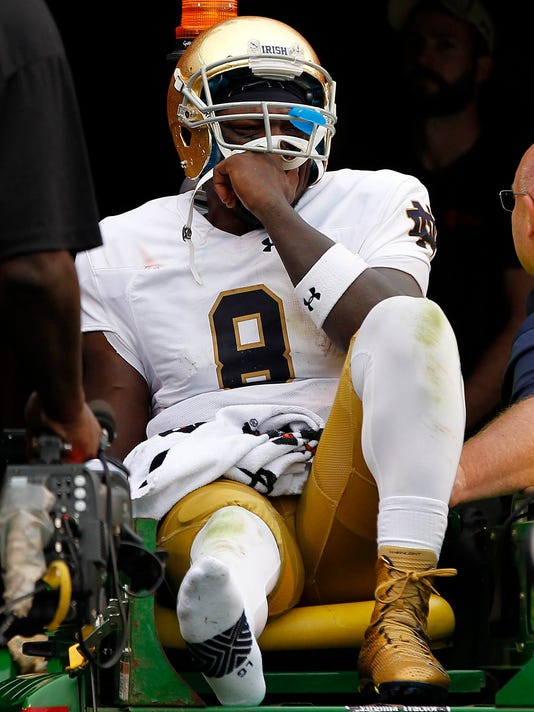 Notre Dame QB Malik Zaire injures right ankle in third quarter vs Virginia