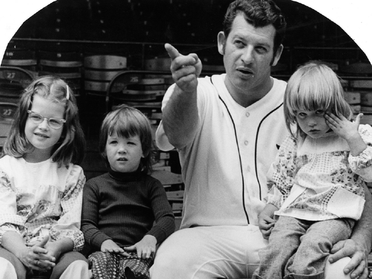 Mickey Lolich and daughters Kimberly, Jody and Stacy