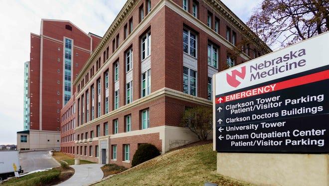 This Friday, Nov. 14, 2014 photo shows the Nebraska Medical Center in Omaha.