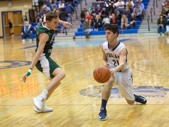 Evan Shreffler (21) and the Chambersburg Trojans have