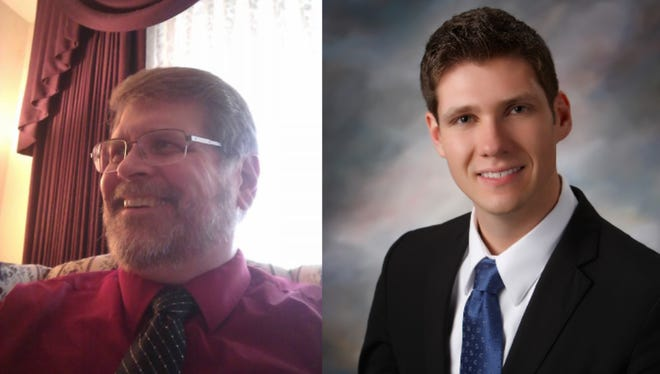 Keith Hetzel (left) and Mayor Zach Vruwink (right) will face off April 3 in the race for Wisconsin Rapids Mayor.
