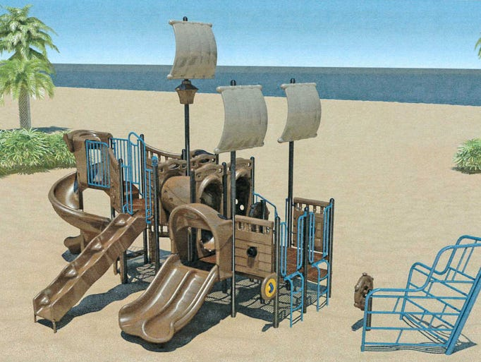 A rendering of what the playground at Park West is