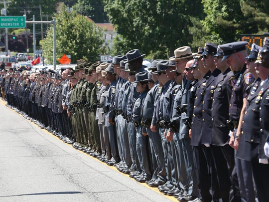 Police officers from through out the Lower Hudson Valley