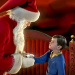 The boy meets Santa in this scene from The Polar Express , starring Tom Hanks in several voiced roles. The movie screens Dec. 14 at the Dryden.