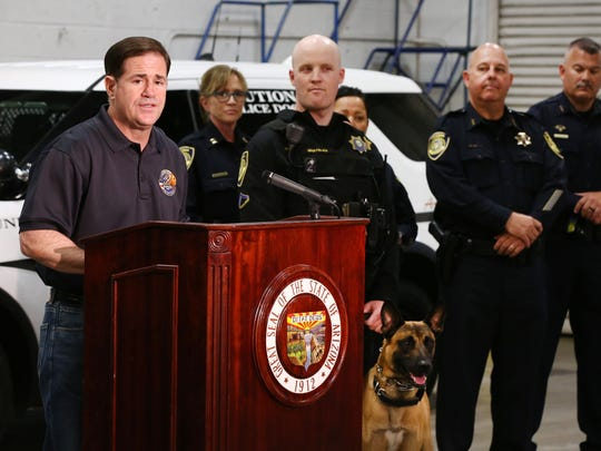 Arizona Gov. Doug Ducey welcomes ADOT's Enforcement