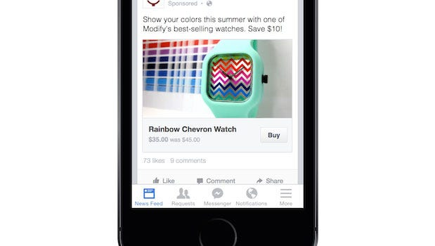 Facebook launched a new feature Thursday that allows users to purchase third-party products within its website or app.