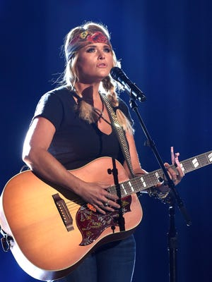 Miranda Lambert rehearses for her part in the ACM's in the T-Mobile ArenaFriday March 31, 2017, in Las Vegas, NV