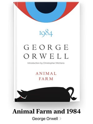 Novels of warning by George Orwell.