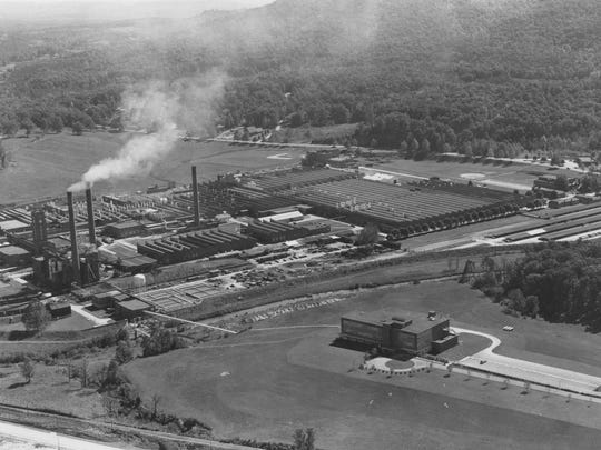 The massive American Enka plant once employed thousands