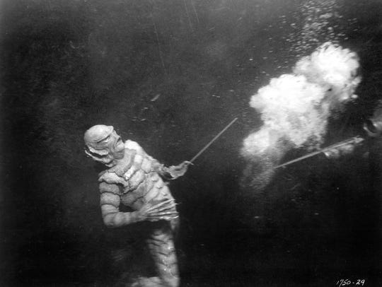 "A scene from ""Creature from the Black Lagoon"" (1954)."