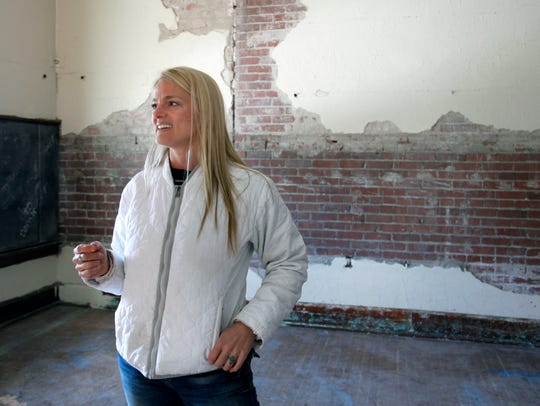 Amy Blansit is renovating the more than 100-year-old
