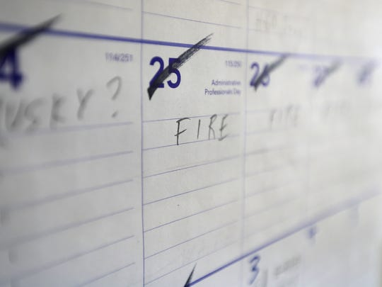 "A calendar on the wall of a state Department of Natural Resources pilot's office has multiple days marked with a single word: ""Fire."" The pilots help detect and monitor wildfires from the air."