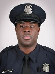 Detroit Police Officer Myron Jarrett, 40, was killed Oct. 28 when he was hit by a van while responding to a traffic incident on the west side.