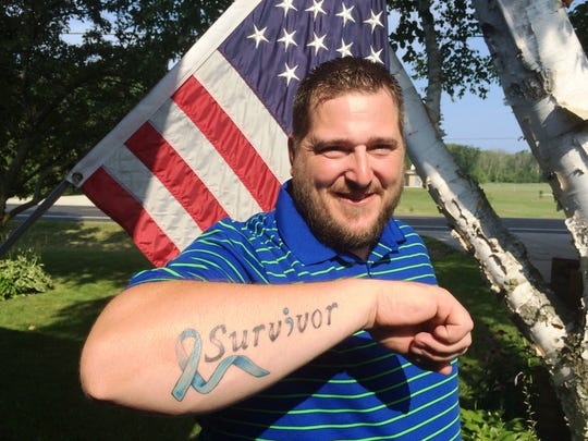 """Billy Foster recently got a """"survivor"""" tattoo after beating cancer late last year. """"I wanted to do something because it felt like an accomplishment,"""" he said. """"It is the biggest thing I've overcome."""""""