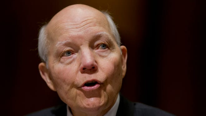 Congress IRS Commissioner John Koskinen testifies at a congressional hearing in Februry.