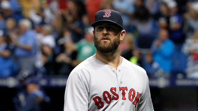 Boston Red Sox first baseman Mike Napoli has five home runs and 22 RBI this season.