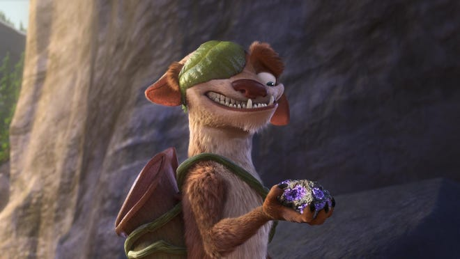 On his biggest adventure ever, Buck (voiced by Simon Pegg) finds an important clue.