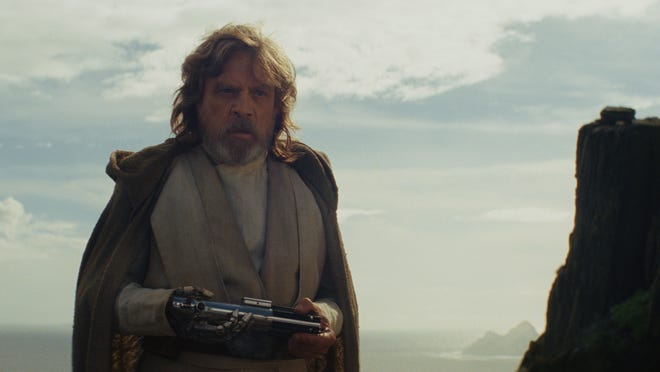 "Luke Skywalker (Mark Hamill) in ""Star Wars: The Last Jedi."""