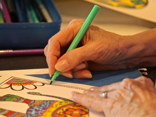 Relieve stress and anxiety with this adults coloring session held at Desert Hot Springs Library.
