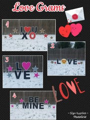 """""""Love Grams"""" from the Sign Gypsies can be customized"""
