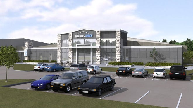 An artist's rendering of the new Foothills Church worship center.
