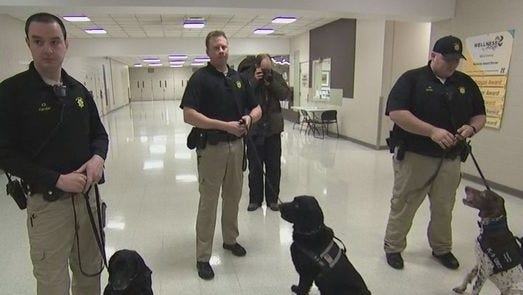 Mall of America K-9 officers and dogs train regularly for threats to the facility.