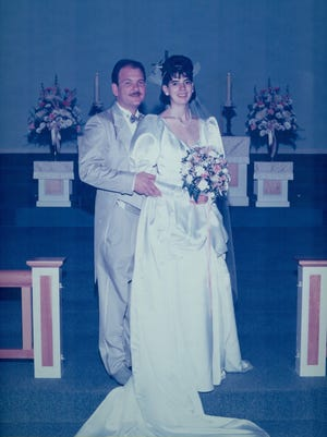 Medio and Jane Bassetti on their wedding day in 1991.