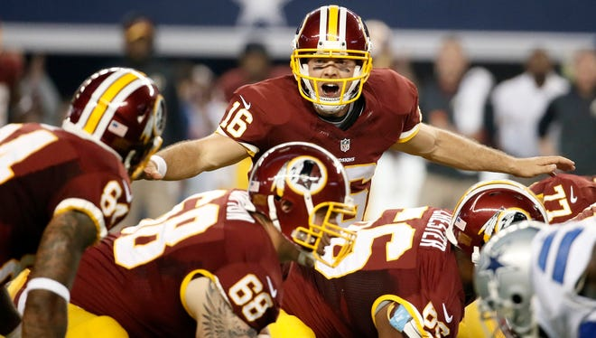 Washington quarterback Colt McCoy will start against Indianapolis in favor of the benched Robert Griffin III.