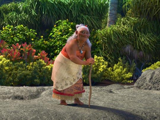 Gramma Tala (Rachel House) understands Moana's passion to set sail.