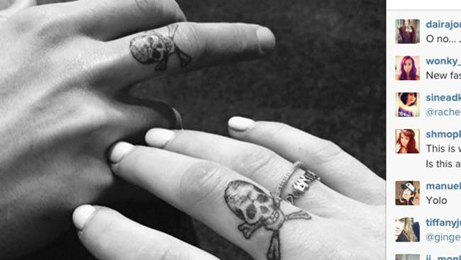 Ellie and Dougie's matching tattoos (c) Instagram