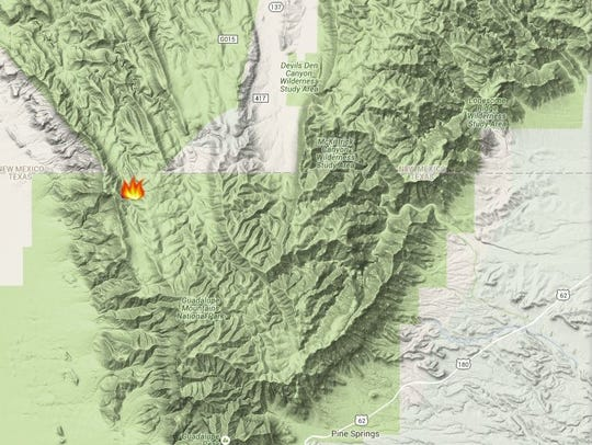 The fire is located in the Northwest corner of the