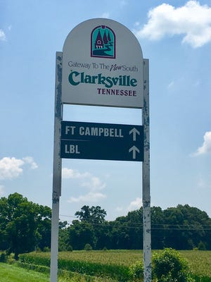 """Clarksville's self-designation as the """"Gateway to the New South"""" is still reflected on some tourism signage, and is being re-evaluated as part of a signage makeover effort."""