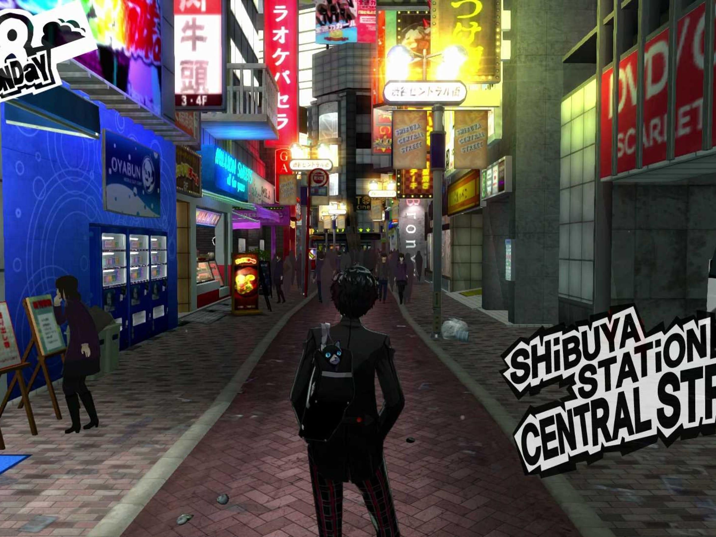 Tokyo comes alive in Persona 5.