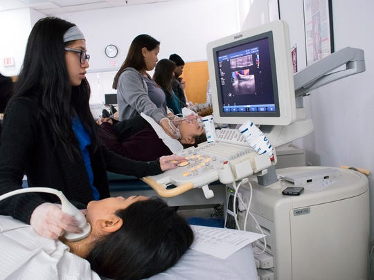 Ultrasound students are among the many healthcare students receiving training in the multiple medical career programs offered at Eastwick College.