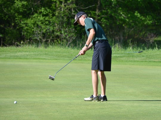 Pennfield's Landon Saxton shot an 85 at the All-City